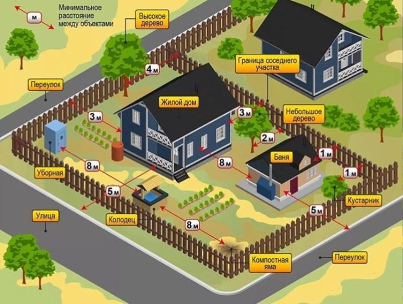 Схема озеленения участка